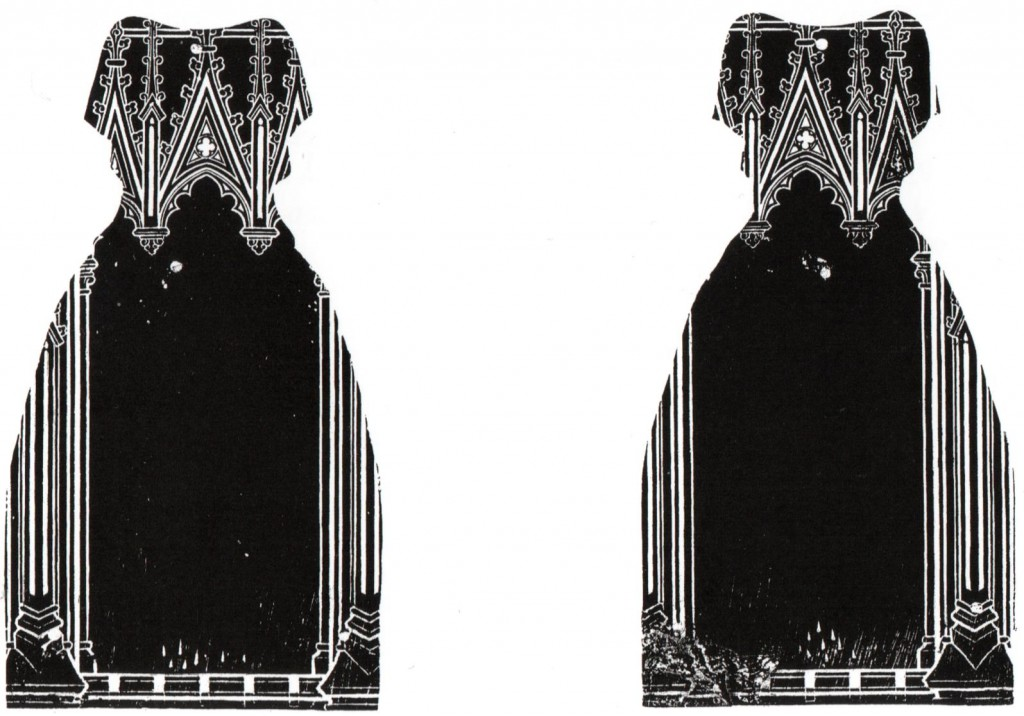 Rubbing of the reverses of the brasses of the wives