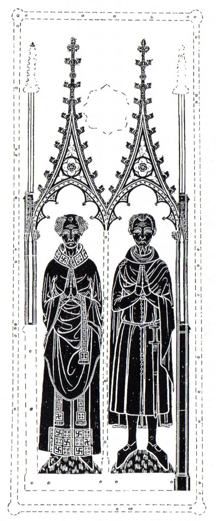 Rubbing of the brass of William Frith, 1386, & John Bradwell