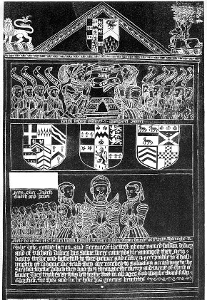 Rubbing of the brass of Richard Disney