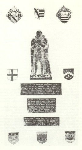 Rubbing of the brass of John Eldred