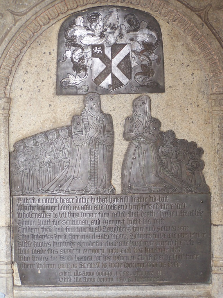 Photograph of the monument of Edmund Hunt & wife