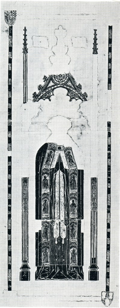 John Byrkhede, d. 1468 (rubbing prior to the loss of the top L. shield)