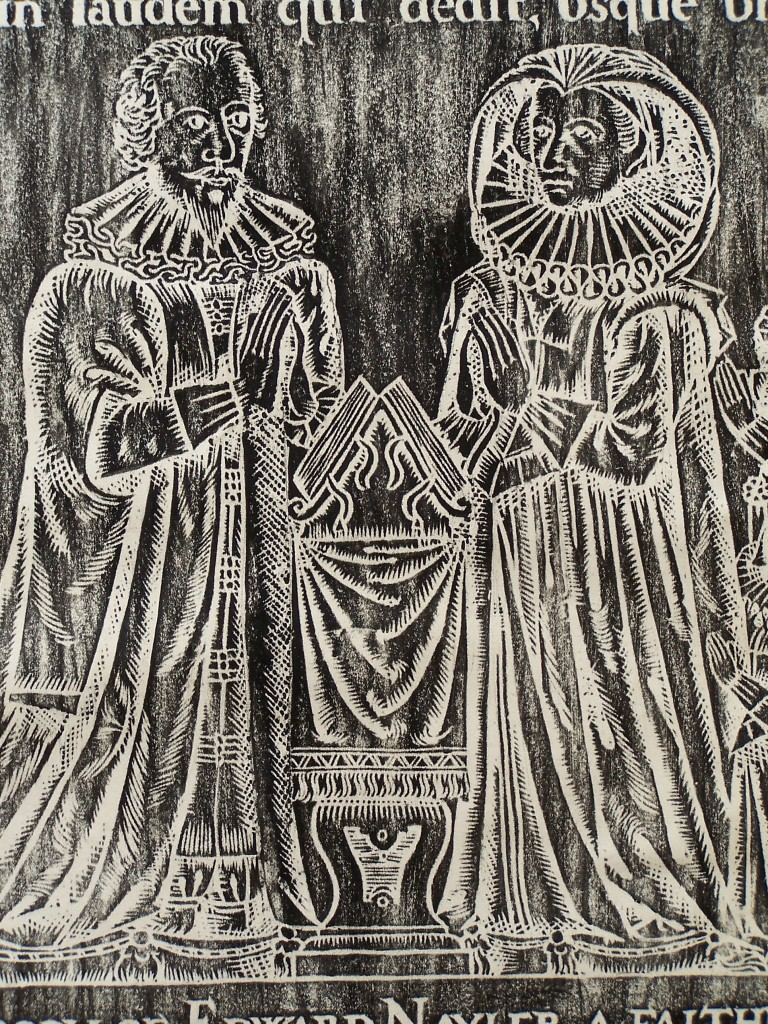 Rubbing of Edward Naylor and wife