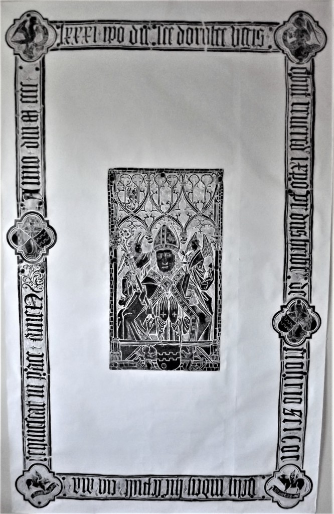 Rubbing of the brass of Abbot Heribert von Llsdorf