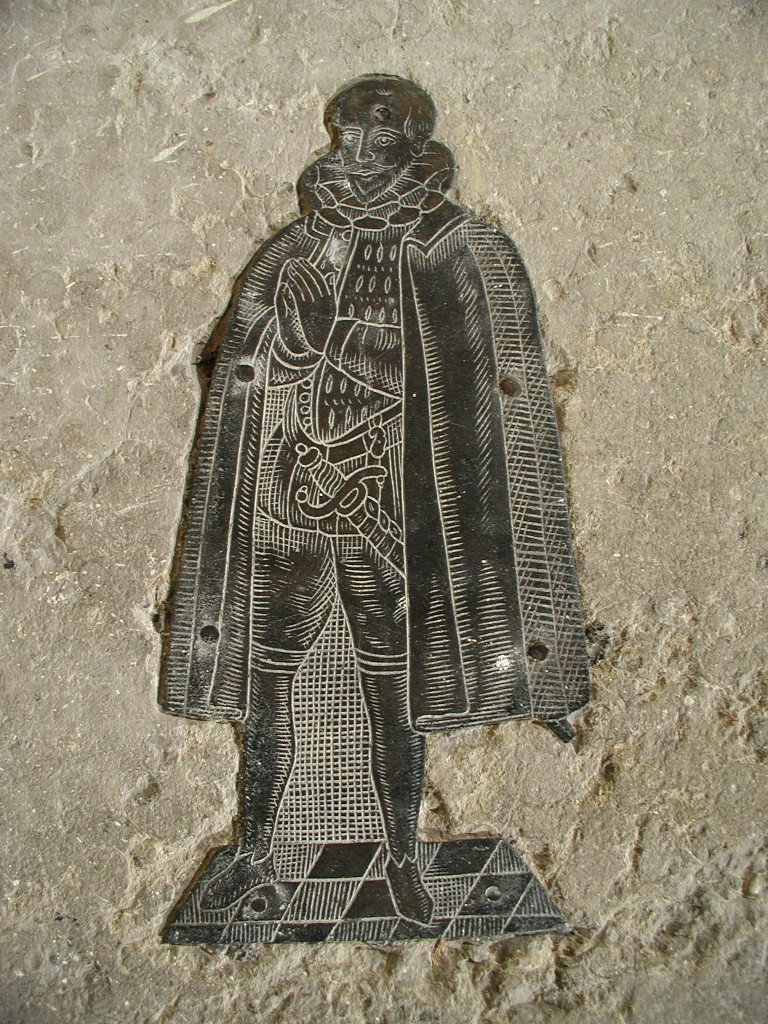 Photograph of the brass of Ann Pudsey's son