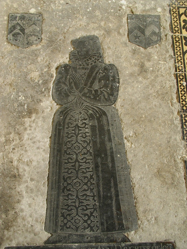 Photograph of the brass of Ann Pudsey