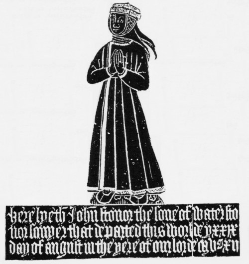 Rubbing of the brass of John Stonor