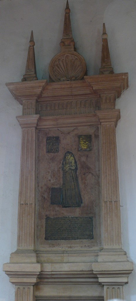 Photograph of brass & monument of Margaret Bacon
