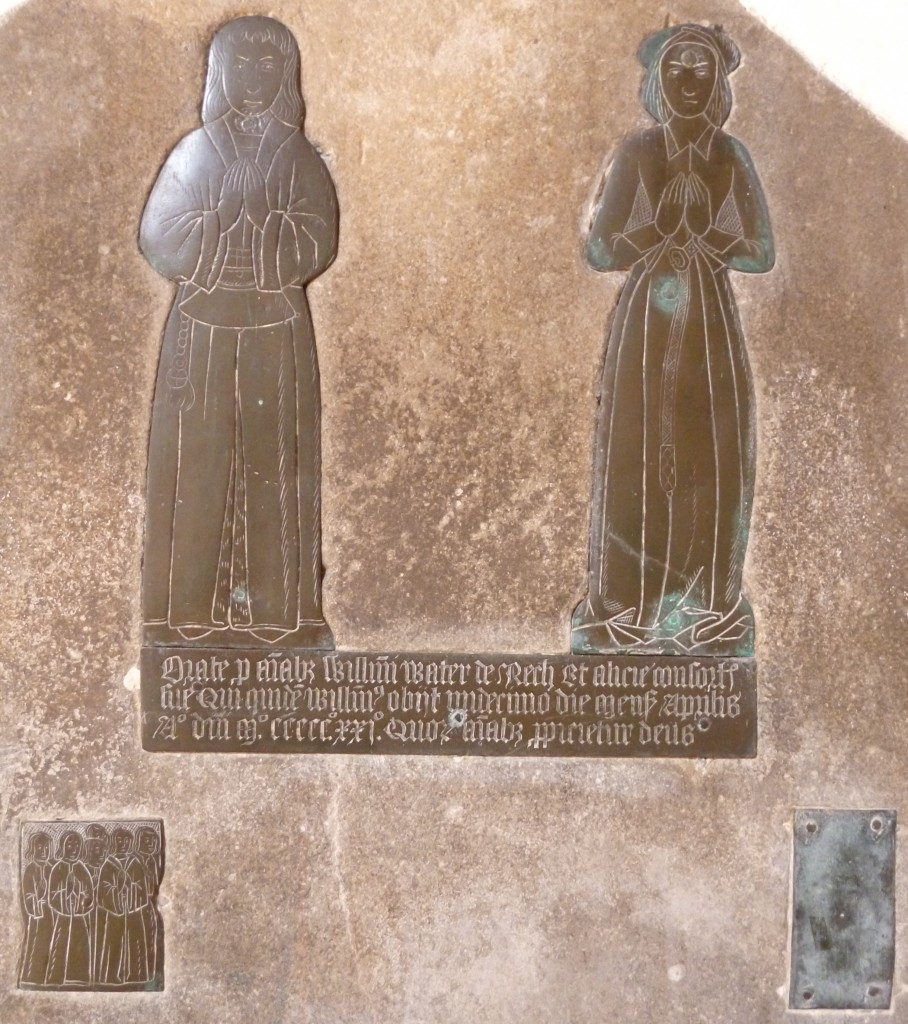 Photograph of brass of William & Alice Water