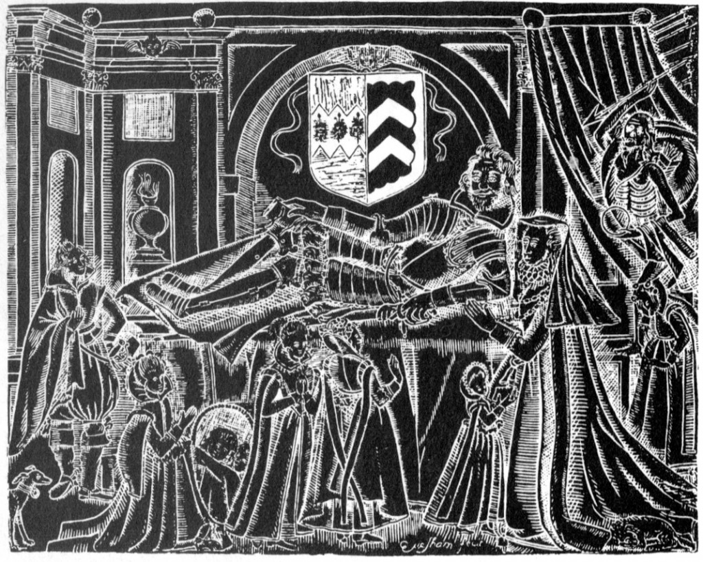 Rubbing of the West brass