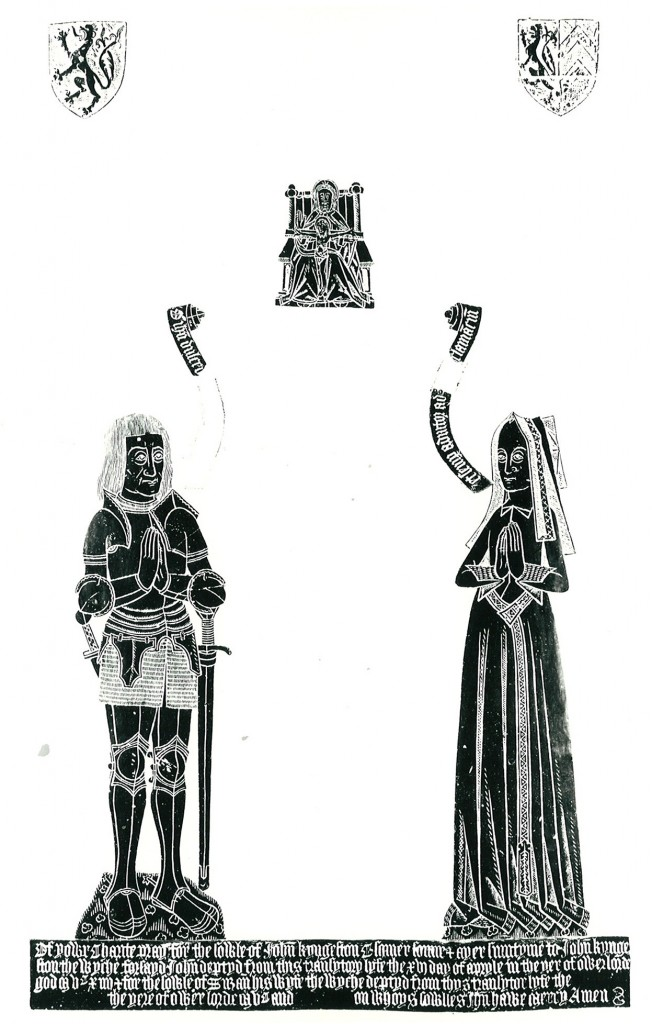 Rubbing of the brass