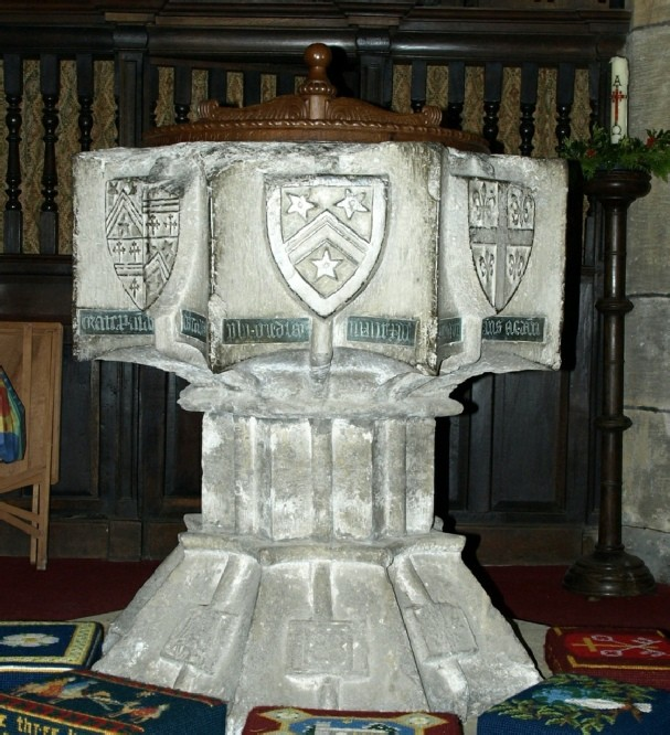 Photograph of the font